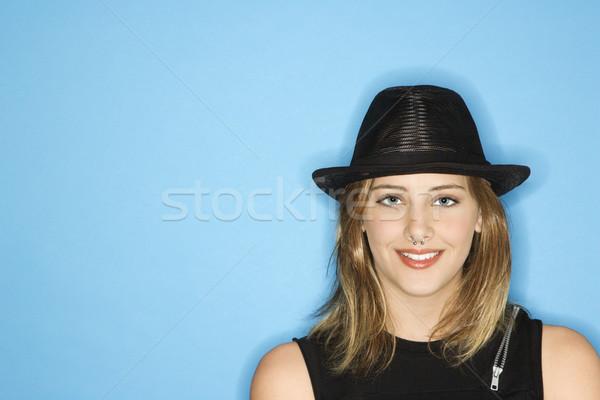 Menina adolescente seis sorridente caucasiano Foto stock © iofoto