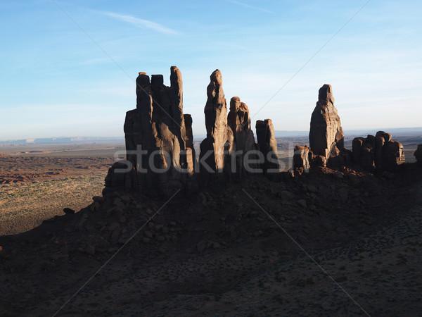 çöl kayalar Utah güneybatı manzara vadi Stok fotoğraf © iofoto
