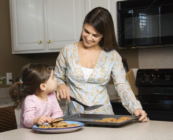 Сток-фото: матери · дочь · кавказский · Cookies · девушки · детей