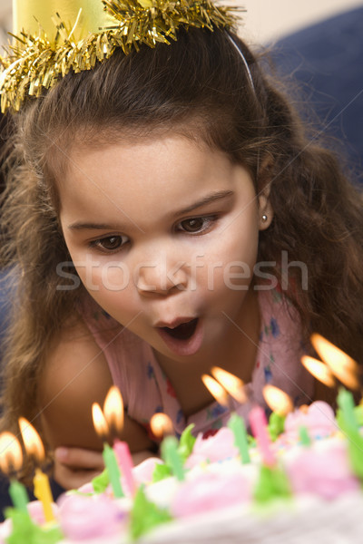 Birthday girl. Stock photo © iofoto