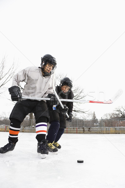 Ice hockey players. Stock photo © iofoto