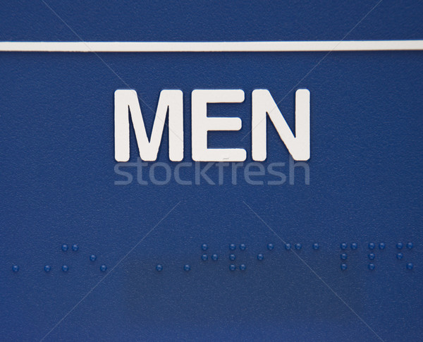 Men sign with braille. Stock photo © iofoto