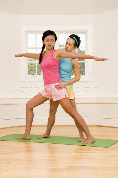 Yoga fitness class Stock photo © iofoto