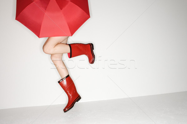 Playful woman. Stock photo © iofoto
