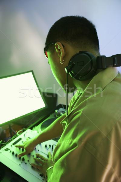 Man with audio equipment. Stock photo © iofoto
