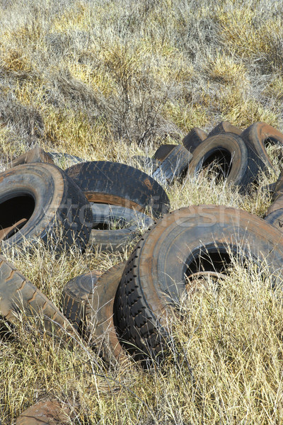 Tires dumped in field. Stock photo © iofoto