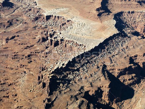 Utah landschap luchtfoto rock kleur buitenshuis Stockfoto © iofoto