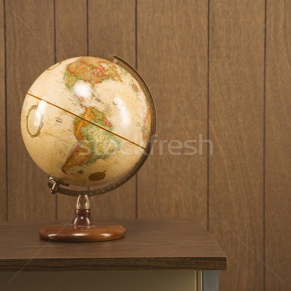 Globe on desk. Stock photo © iofoto