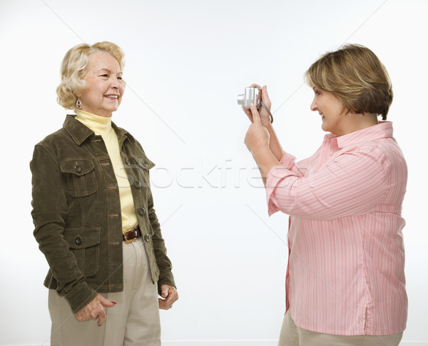 Women using digital camera. Stock photo © iofoto
