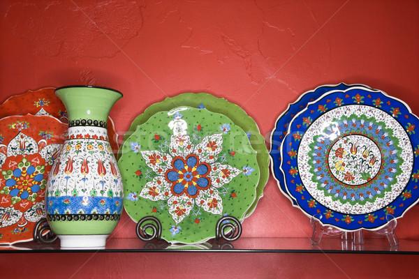 Plates and vase. Stock photo © iofoto