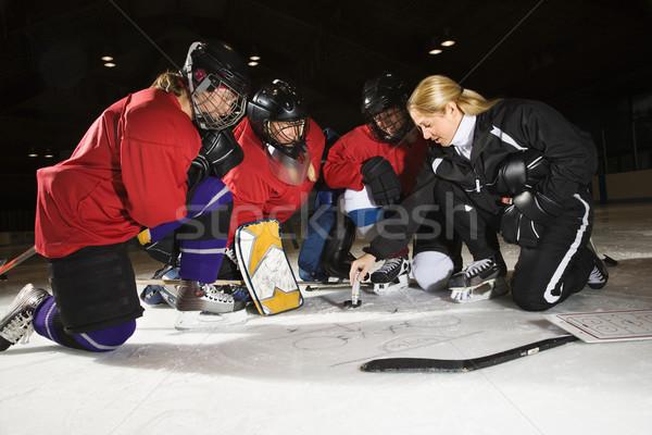 Women hockey players. Stock photo © iofoto