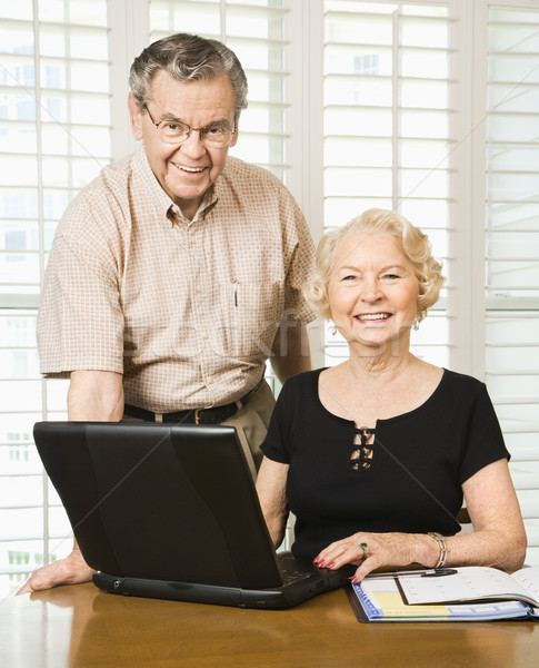 Mature woman with laptop. Stock photo © iofoto