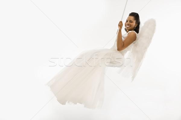 Angélique mariée Swing femme femmes ange Photo stock © iofoto