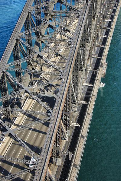 Sydney haven brug luchtfoto detail verkeer Stockfoto © iofoto