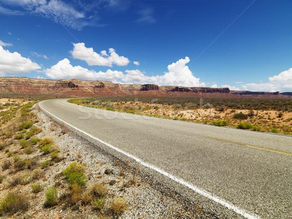 Road with mountain landscape. Stock photo © iofoto