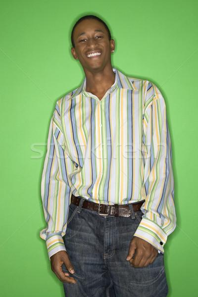 Smiling teen boy. Stock photo © iofoto