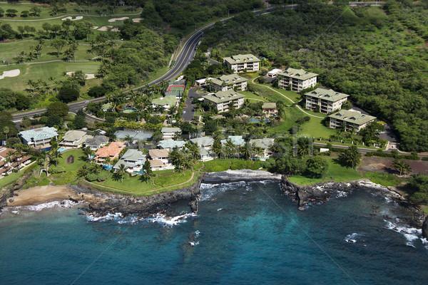 Houses on coast. Stock photo © iofoto