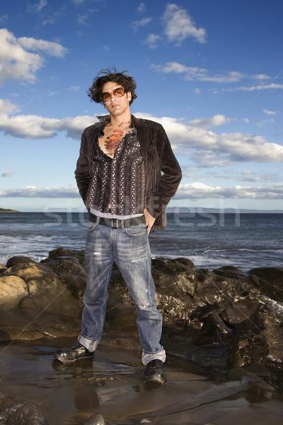 Young Man at Beach Stock photo © iofoto