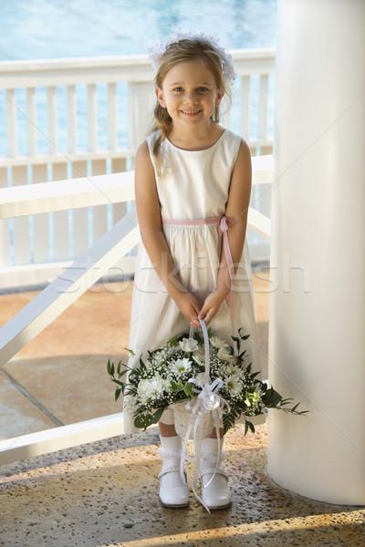 Portrait of flowergirl. Stock photo © iofoto