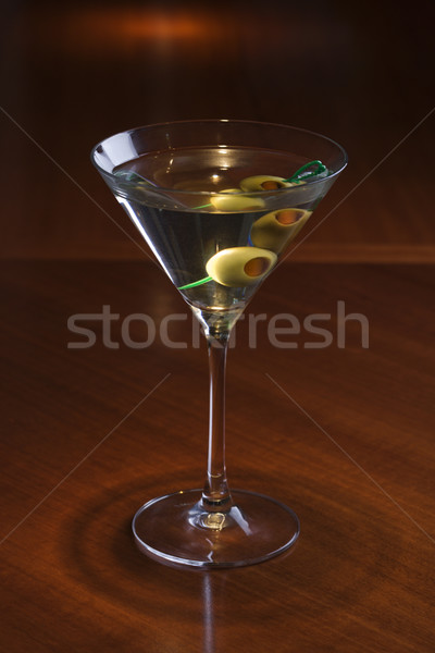 Naturaleza muerta martini bar beber color de oliva Foto stock © iofoto