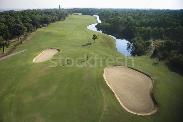 гольф антенна жилой сообщество Сток-фото © iofoto