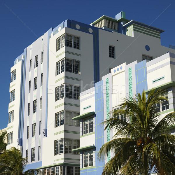 アールデコ 地区 マイアミ ヤシの木 建物 フロリダ ストックフォト © iofoto