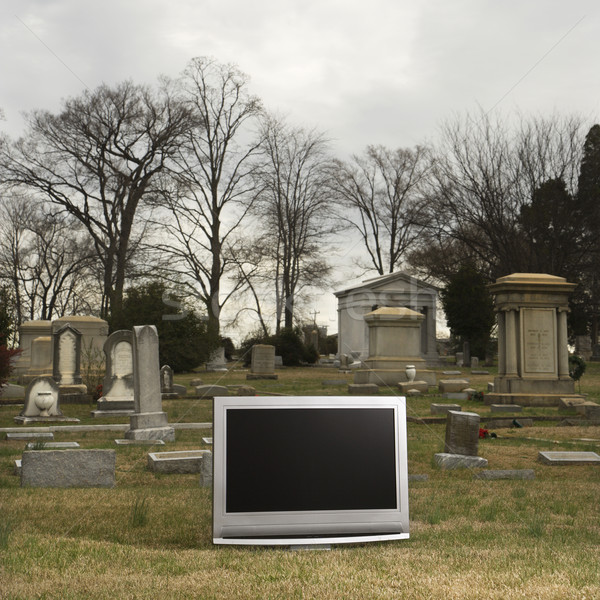 Television in graveyard. Stock photo © iofoto