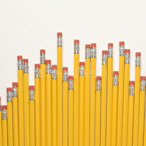 Lápis desigual apagador escritório escolas Foto stock © iofoto