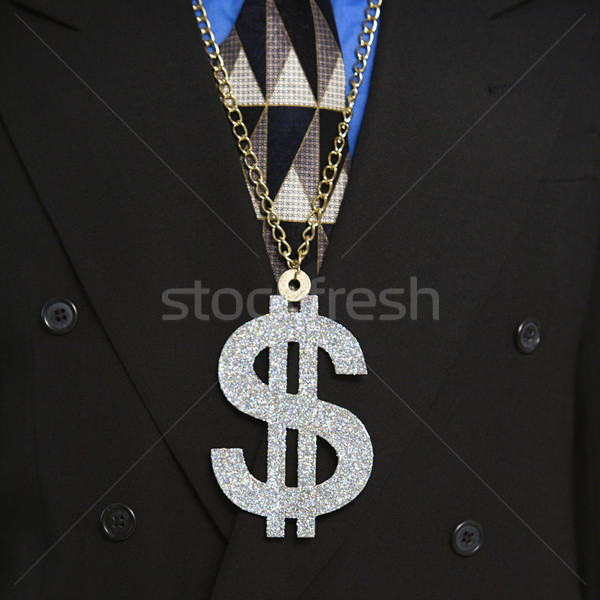 Man wearing money sign. Stock photo © iofoto