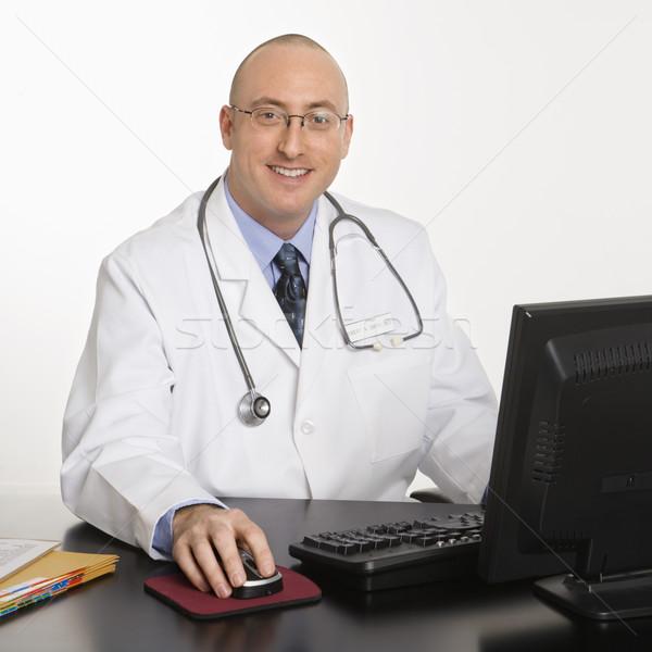 мужчины кавказский врач взрослый врач сидят Сток-фото © iofoto