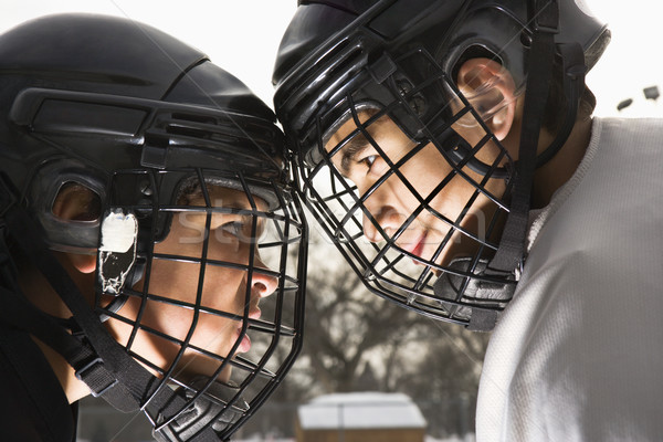 Stock photo: Ice hockey confrontation.