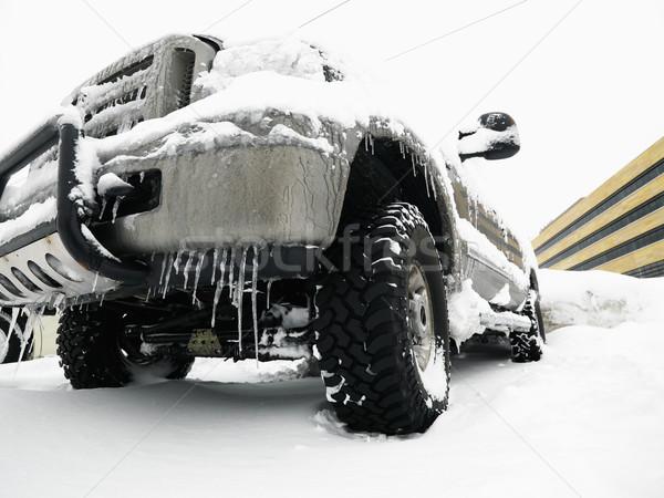 Suv neve grande coberto gelo céu Foto stock © iofoto