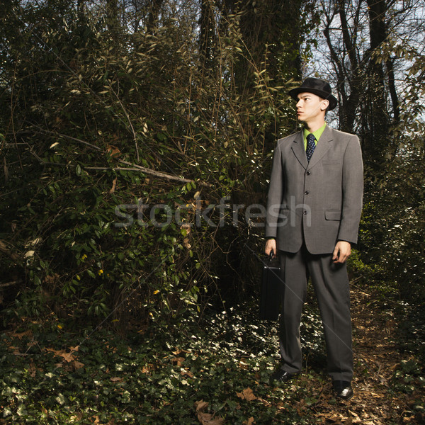 Young Businessman in Woods Stock photo © iofoto