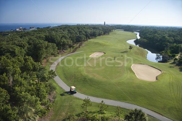 Campo de golfe residencial comunidade careca Foto stock © iofoto