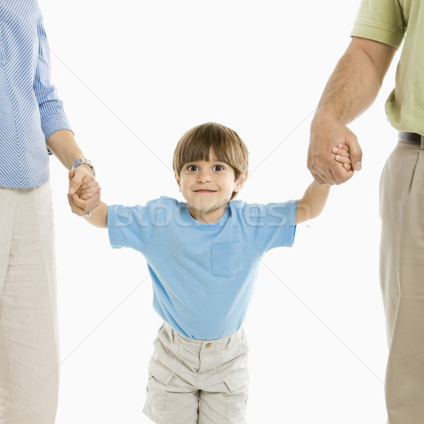Boy with parents. Stock photo © iofoto