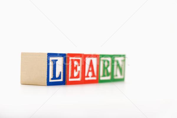 Játék tömbházak ábécé helyesírás szó tanul Stock fotó © iofoto