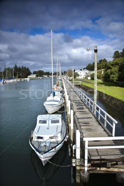 лодках док Австралия воды лодка парусника Сток-фото © iofoto
