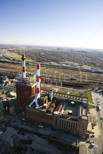 Factory with smokestacks. Stock photo © iofoto