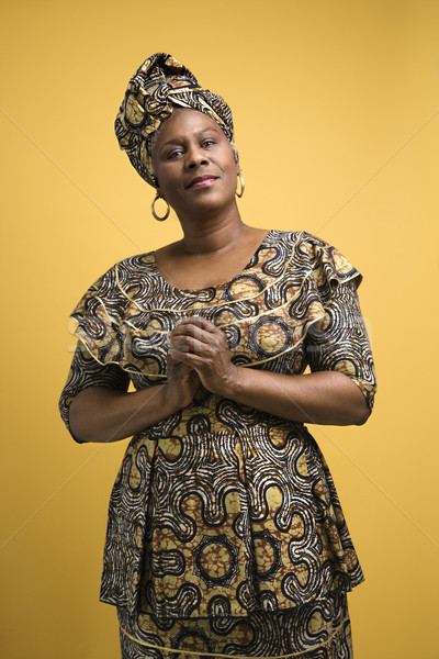 Woman in African dress. Stock photo © iofoto