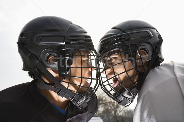 Ice hockey face off. Stock photo © iofoto