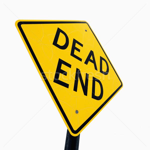 Morti fine segno cartello stradale lettura cielo Foto d'archivio © iofoto