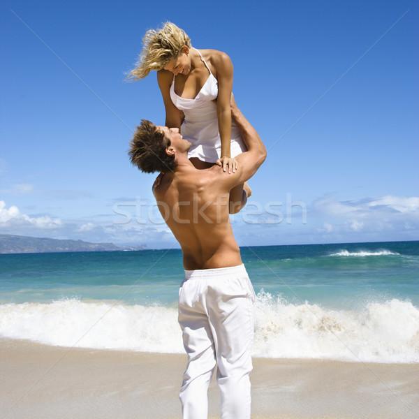 Homme femme up air Rechercher Photo stock © iofoto