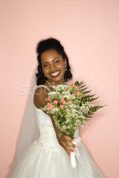 Portret bruid roze vrouw vrouwen Stockfoto © iofoto