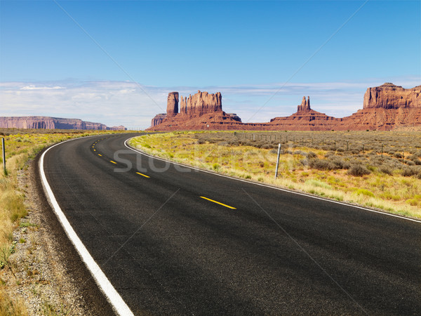 Desert mesa and road. Stock photo © iofoto