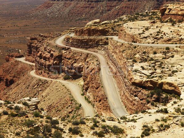 Stok fotoğraf: Yol · çöl · kaya · oluşumu · görmek