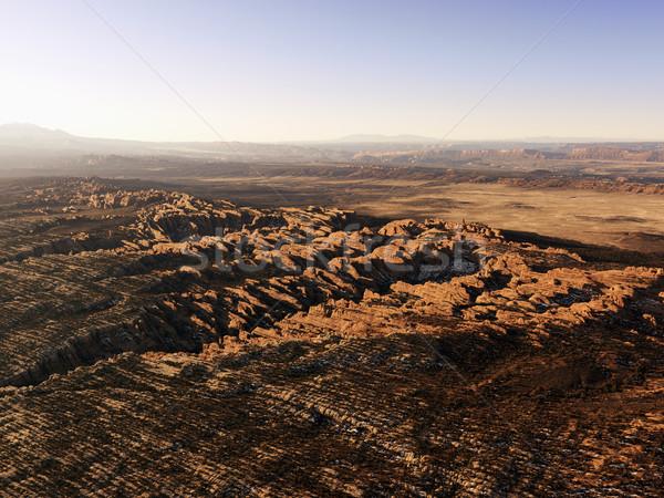 Kaya çöl rüzgâr su hat yatay Stok fotoğraf © iofoto