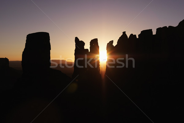 Monument Valley mesa sunset landscape. Stock photo © iofoto