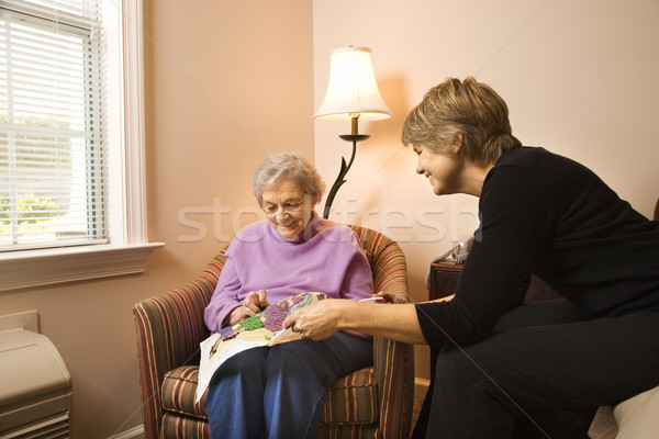Woman Visiting Older Woman  Stock photo © iofoto