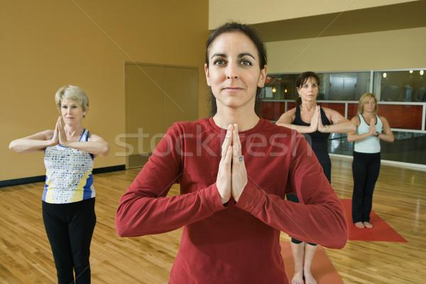 Stockfoto: Vrouwen · yoga · volwassen · vrouwelijke · klasse · fitness