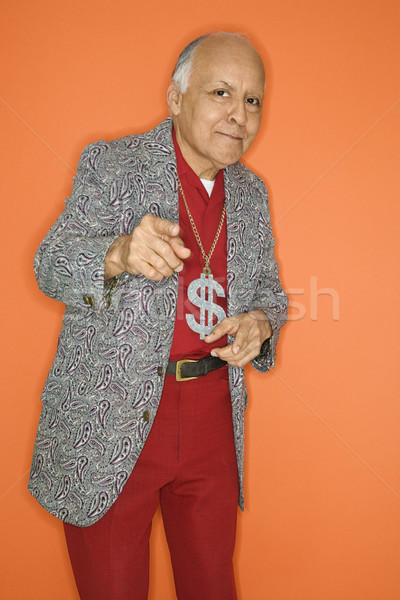 Man wearing bling. Stock photo © iofoto